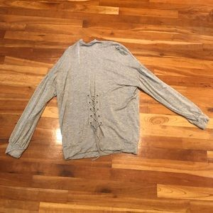 Gray Nordstrom shirt with cute back detail!